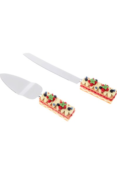 Kancaev Pasta Servis Seti, Beyaz Kremalı-Çilekli