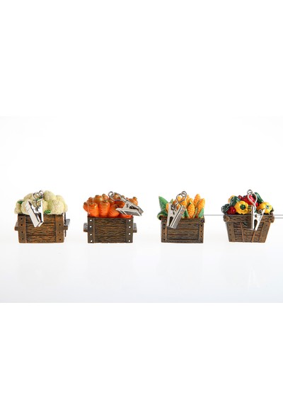 Kancaev Dörtlü Masa Örtüsü Ağırlığı, Sandıkta Sebzeler
