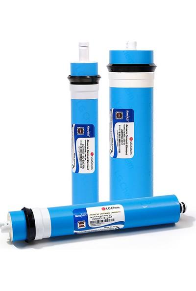 Aqualine Açık Kasa Tech Tecflo Su Arıtma Cihazı Filtre Seti 5 Adet LG Membranlı Çift Carbon Filtreli