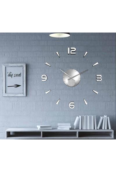 Diy Clock Modern Saat - Gümüş