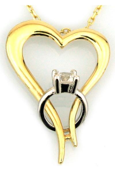 Kuyumcunuz Altın Yüzüklü Sevgili Kolye (14 Ayar)