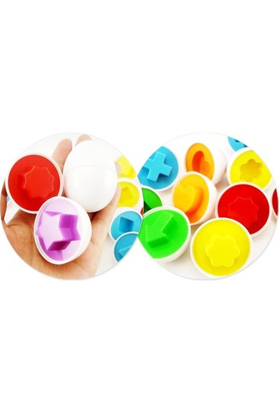 Kkd Eğitici Oyuncak Yumurta Geometrik Şekilli Puzzle