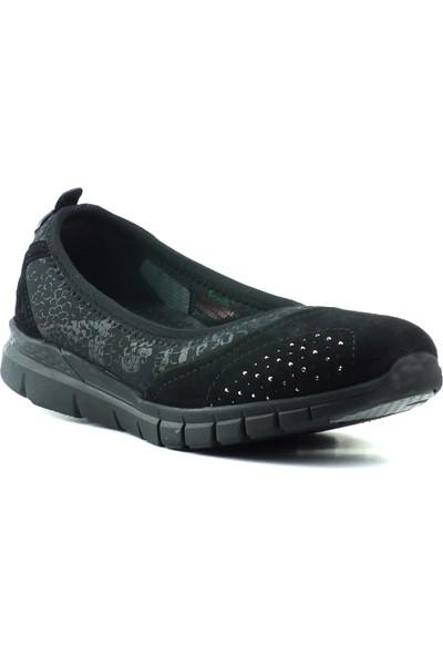 Forelli 29414 Kadın Siyah Babet Ayakkabı