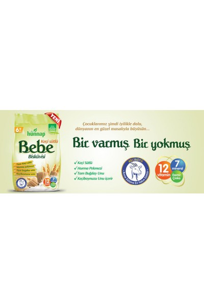 Hünnap Keçi Sütlü Bebe Bisküvisi 6 Paket