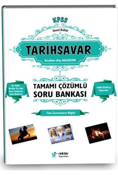 KPSS Lise Önlisans Tarih Savar Tamamı Çözümlü Bilgi Notlu Soru Bankası RY Rektör Yayınları