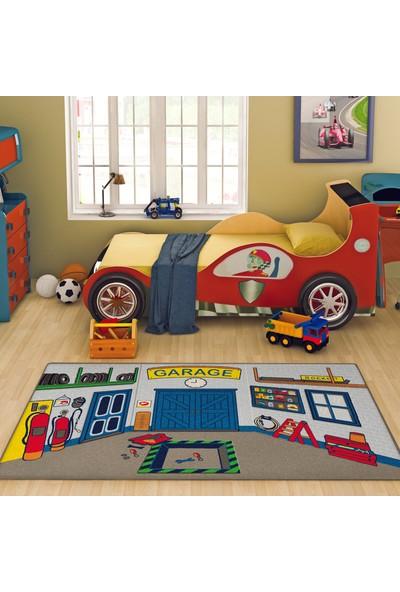 Confetti Garage 100x160 cm Mavi Oymalı Çocuk Halısı