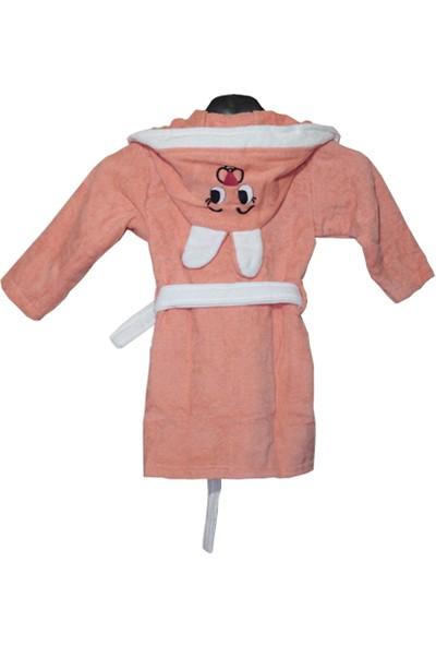 Cikshome Tavşanlı Çocuk Bornozu Turuncu