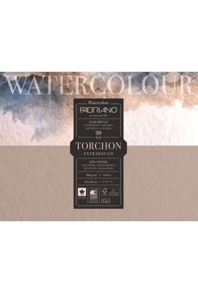Fabriano Torchon Extra Rough 30.5x45.5cm - 300 Gr. - 20 Yaprak