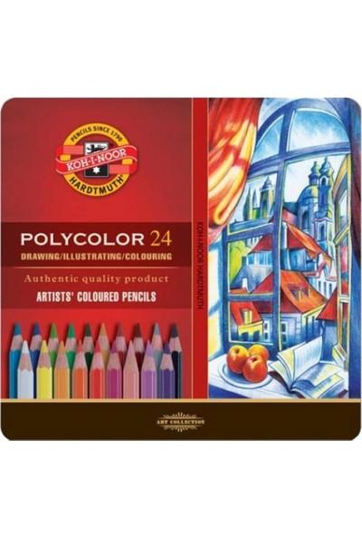 Koh-i Noor Polycolor Kuru Boya Kalemi 24'lü N:3824