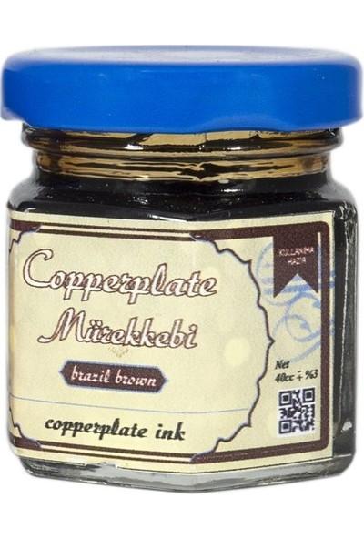 Koza Sanat Copperplate Mürekkebi 40ml - Kahve