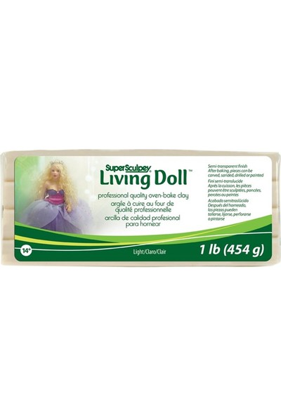 Super Sculpey Living Doll Kil 454gr - Light