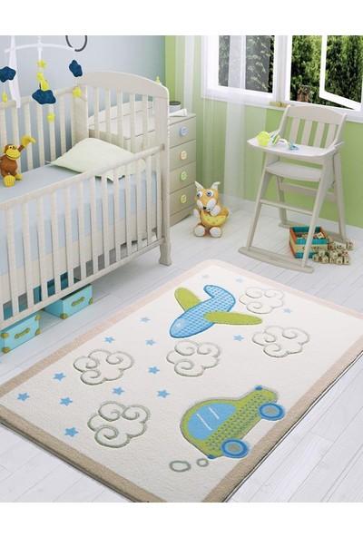 Confetti Baby Road 133X190 Beyaz Oymalı Halı