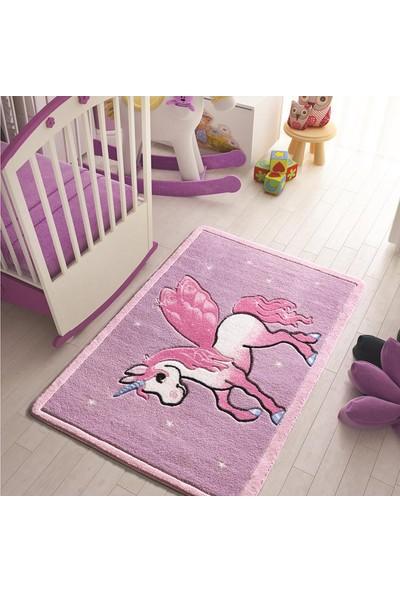 Confetti Pony 100x150 cm Lila Oymalı Çocuk Halısı