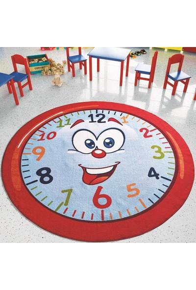 Confetti Happy Hour Çapı 200 cm Kirmizi Bukle Çocuk Halısı
