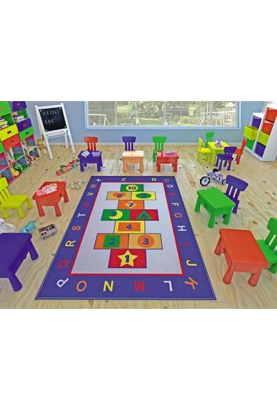 Confetti Game 133X190 Cm Mavi Çocuk Halısı