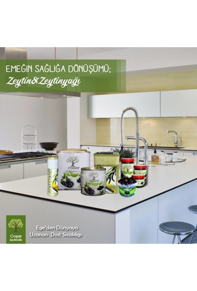 Coşar Zeytin 261-290 (Mega) 500 Gr Siyah Yağlı Sele