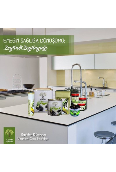 Coşar Zeytin 321-350 (Hususi) 500 Gr Siyah Yağlı Sele