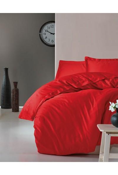 Cotton Box Elegant %100 Pamuk Saten Çift Kişilik Nevresim Takımı Kırmızı