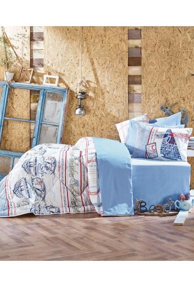 Cotton Box Çift Kişilik Maritime Ranforce Uyku Seti Seaport Mavi