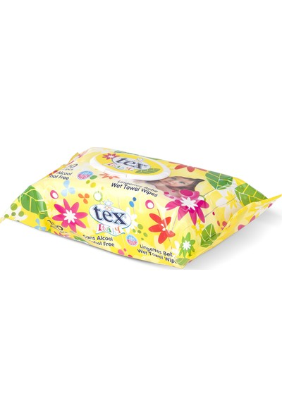 Tex Baby Islak Havlu 100 Yaprak Sarı