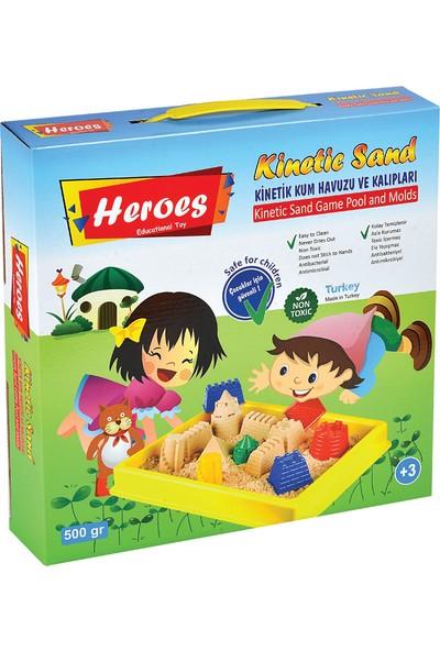 Heroes Kinetik Kum Küçük Havuz Kalıplı 500 Gr. Kinetik Kum
