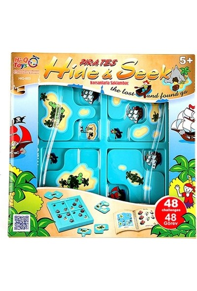 Akay Hi-Q Toys Pırates Hıde&Seek Korsanlarla Saklambaç Akıl ve Zeka Oyunu