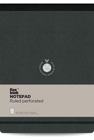 FlexBook 43 Esnek Bloknot 21x28 cm Siyah Şeritli Çizgili