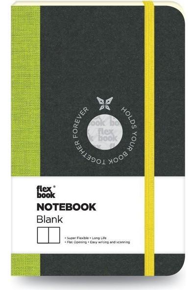 FlexBook 8 Esnek Not Defteri 9x14 cm Yeşil Şeritli Çizgisiz