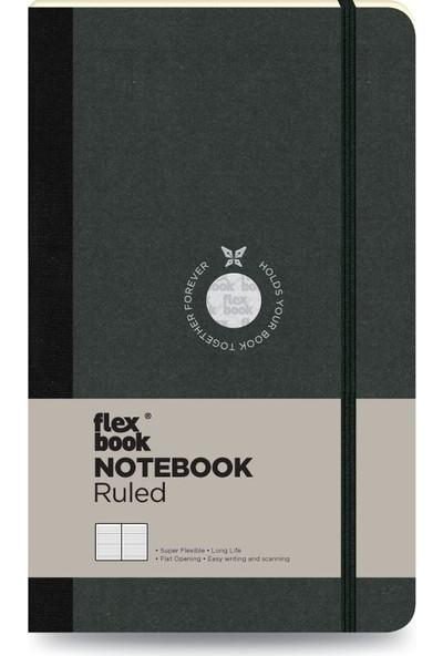 FlexBook 13 Esnek Not Defteri 13x21 cm Siyah Şeritli Çizgili