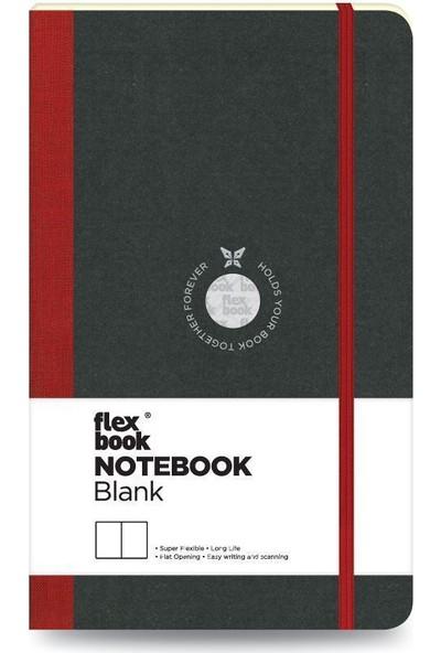 FlexBook 6 Esnek Not Defteri 13x21 cm Kırmızı Şeritli Çizgisiz