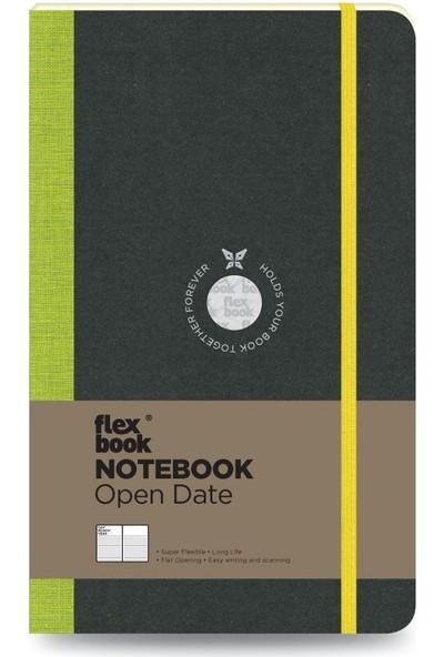 FlexBook 23 Esnek Not Defteri 13x21 cm Yeşil Şeritli Tarihli Çizgili