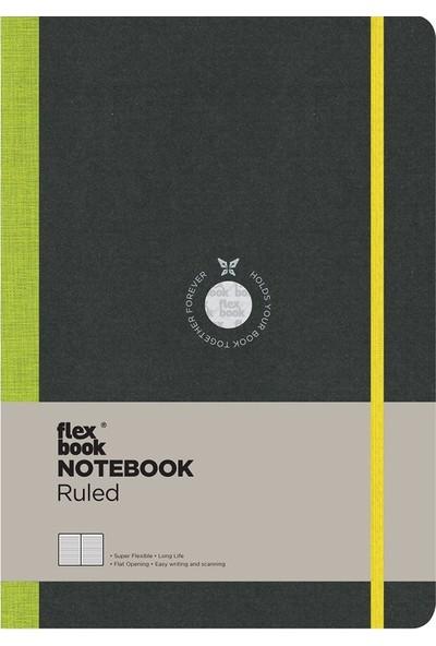 FlexBook 11 Esnek Not Defteri 17x24 cm Yeşil Şeritli Çizgili