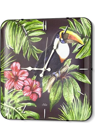 The Mia Duvar Saati - Tropik Toucan 35 Cm