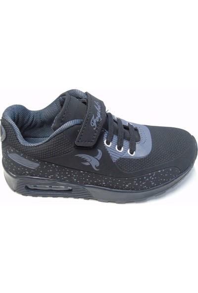 Feybil Dragon Siyah Cırtlı Çocuk Spor Ayakkabı