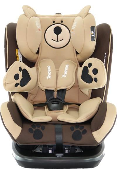 Yoyko Bear Dönebilir Yatabilir 0-36 Kg Oto Koltuğu ISOFIX/SIP/LATCH - Kahverengi