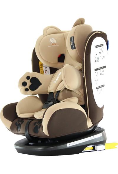 Yoyko Bear 360 ° Dönebilir Yatabilir 0-36 Kg Oto Koltuğu ISOFIX/SIP/LATCH - Kahverengi