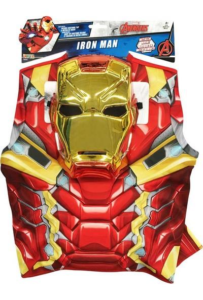 Lisanslı Iron Man Avengers Maskeli Üst Kostüm Standart