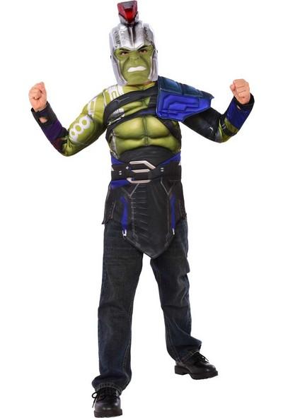 Lisanslı Hulk Avengers Maskeli Üst Kostüm Standart