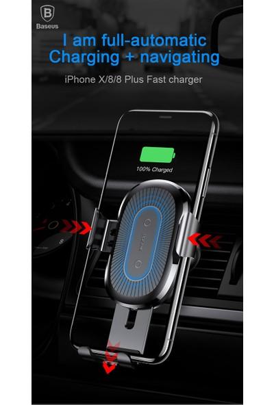 Baseus iPhone Uyumlu Kablosuz Şarj Araç Tutucu