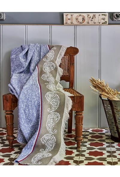 Karaca Home Talin Mavi Çift Kişilik Nevresim&Battaniye Seti