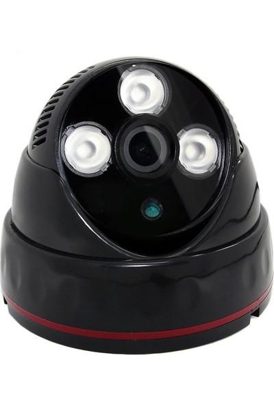 Sapp A1600 072S 1600 Tvl 3 Atom Ledli Analog Siyah Dome Kamera
