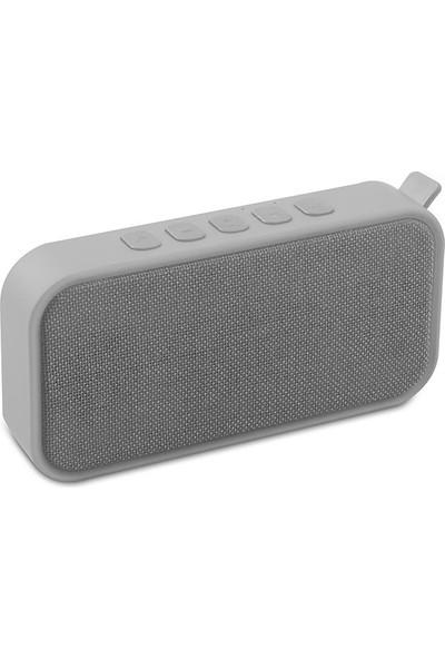 Mikado MD - 55BT Speaker FM Destekli Bluetooth Hoparlör Gümüş