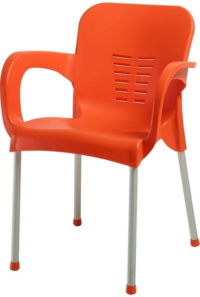 Comfort 80 cm Yuvarlak Masa 4 Sandalye Balkon Mutfak Bahçe Takımı