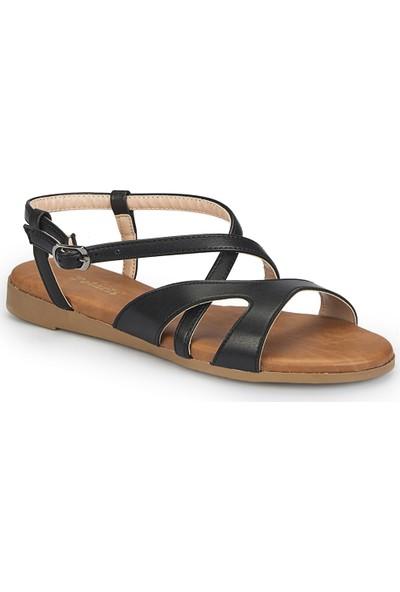 Polaris 81.310140.Z Siyah Kadın Sandalet