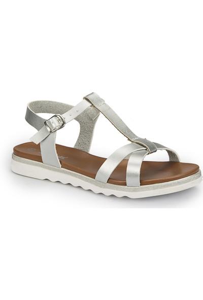 Polaris 81.311491.Z Gümüş Kadın Sandalet