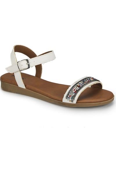 Polaris 81.311516.Z Beyaz Kadın Sandalet