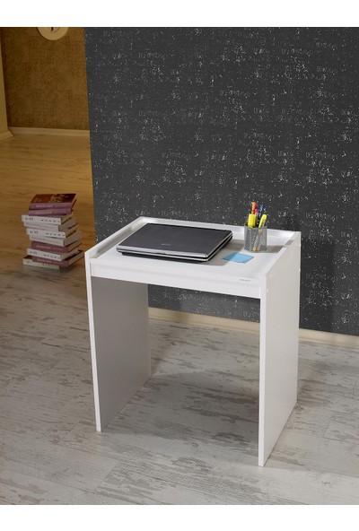 Mobusta Minis Beyaz Bilgisayar Masası Çalışma Masası