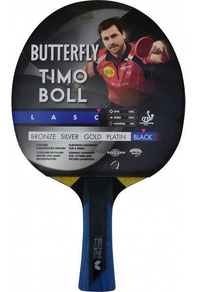 Butterfly 85031 Boll Black ITTF Onaylı Masa Tenisi Raketi