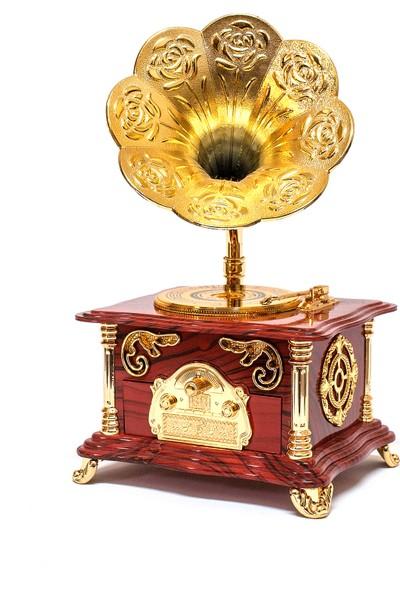 Retro Gramafon Nostaljik Gramafon Müzik Kutusu Mücevherlik Takı Kutusu