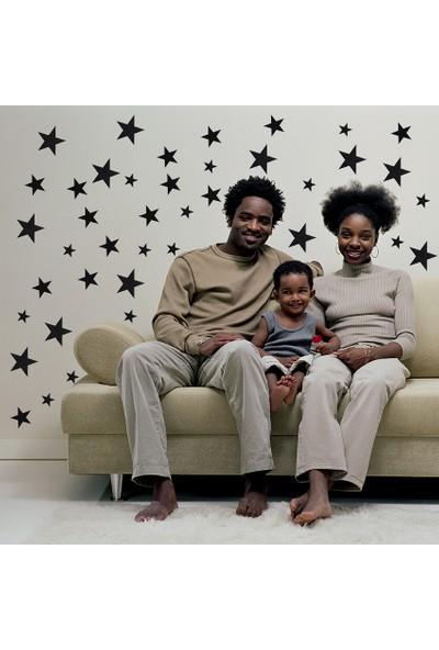 Decolight Büyük Boy Siyah Yıldız Sticker
